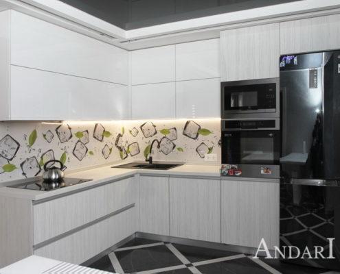 Угловая кухня из пластика - Андари