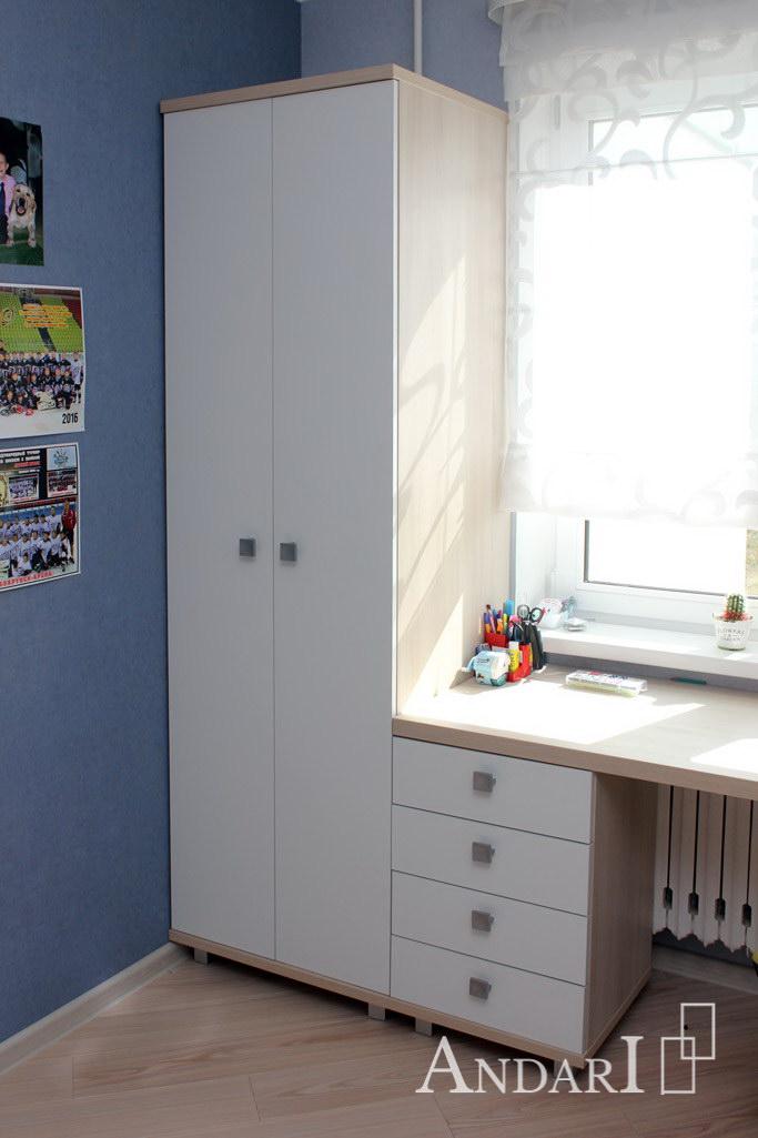 Распашной шкаф для одежды в детской - Андари