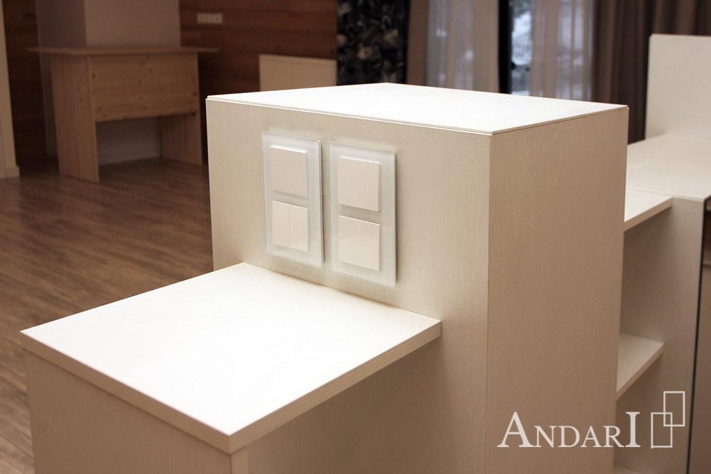 Белая мебель для гостиной Андари