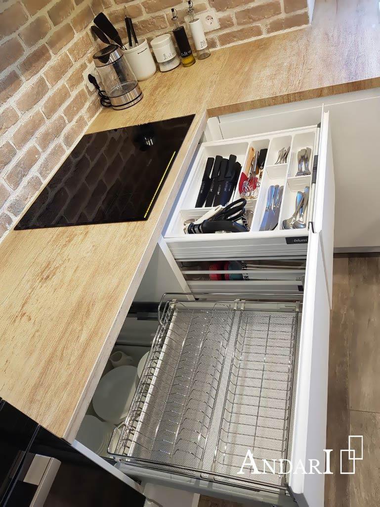 Сушка для посуды в выдвижном ящике - Андари