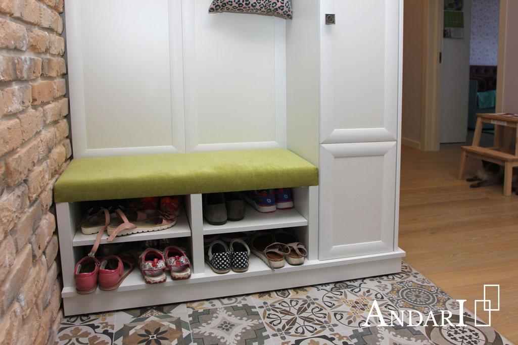 Открытые полки для обуви в прихожей - Андари