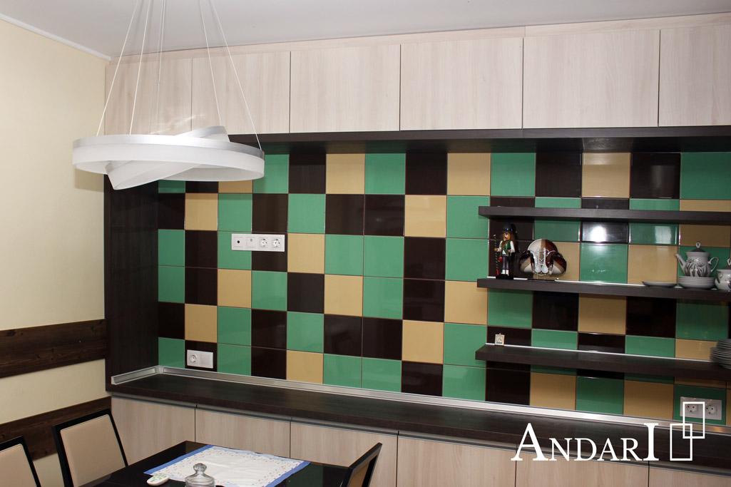 Верхние шкафы без ручек открываются от нажатия - Андари