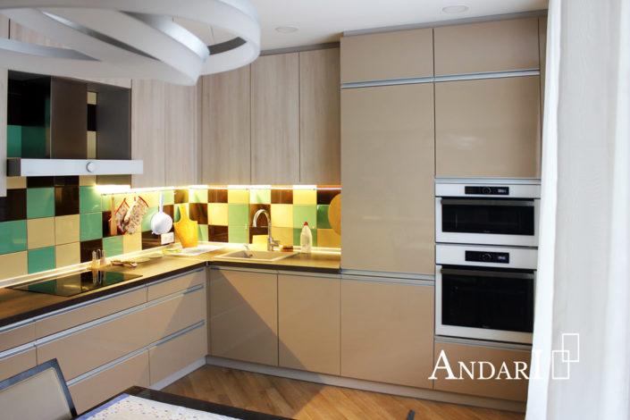 Угловая кухня с профильными ручками - Андари