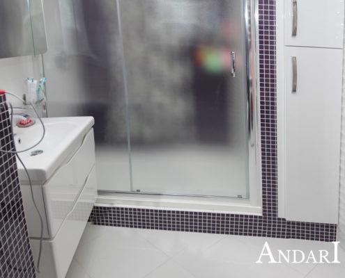 Мебель в санузел: подвесная тумба и шкаф - Андари