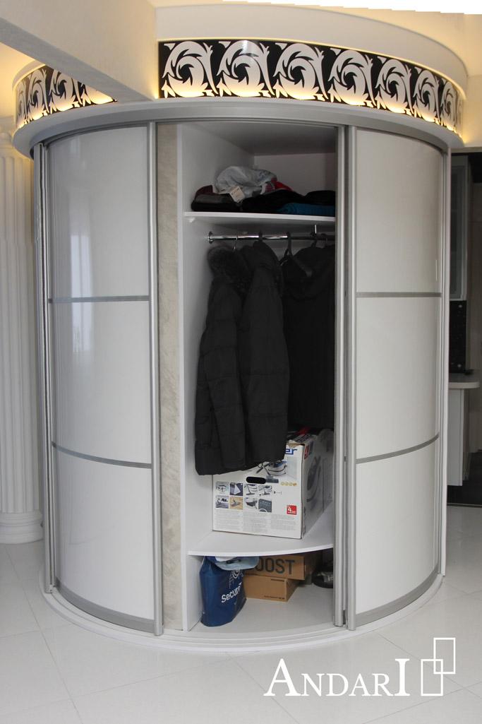 Радиусный шкаф-купе наполнение - Андари