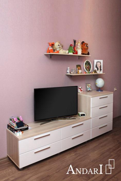 Детская комната для девочки-подростка: тумба и комод - Андари