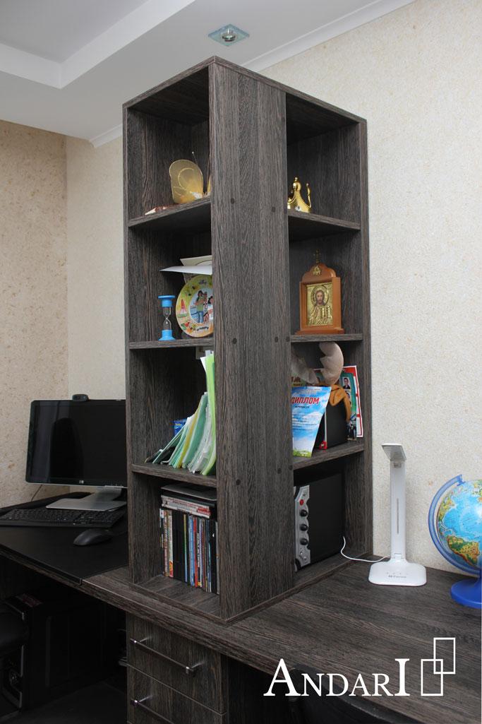 Детская комната для двух мальчиков: полка над столом - Андари