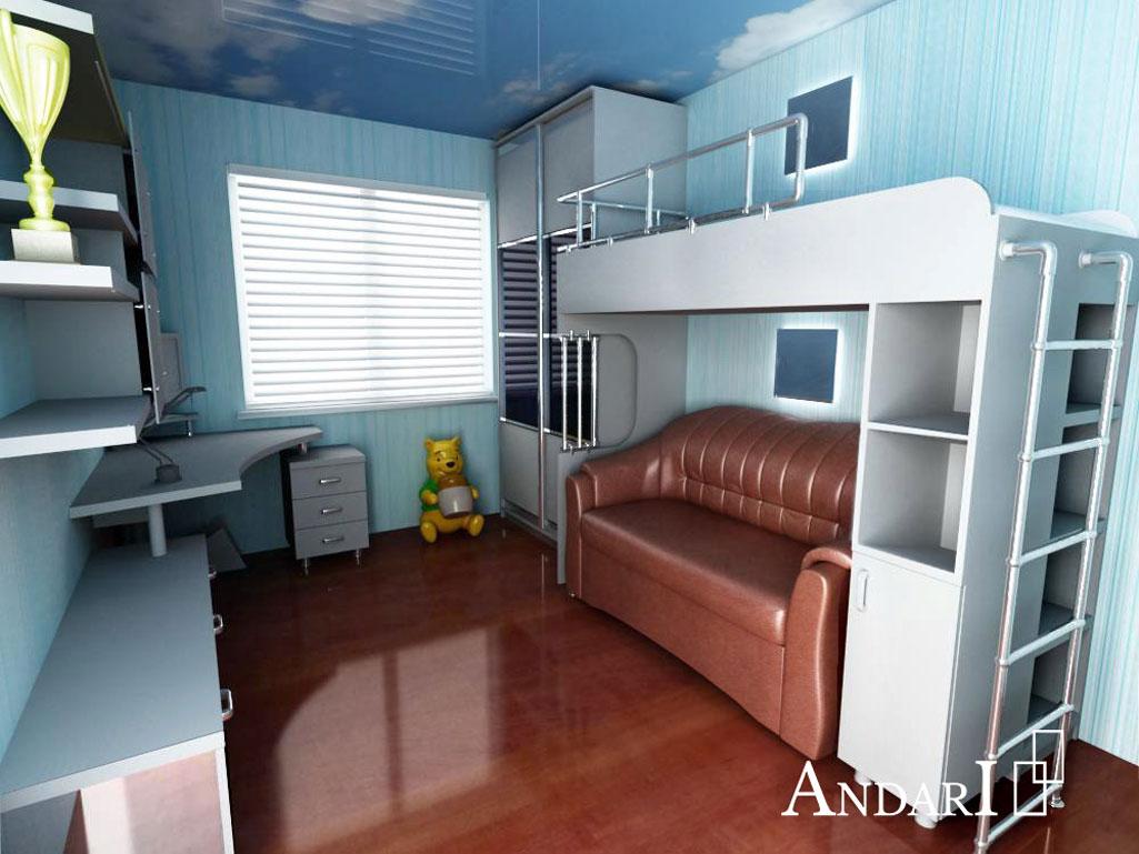 Проект детской комнаты: двухъярусная кровать - Андари