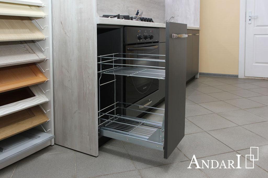 Карго хром 300 мм на кухне