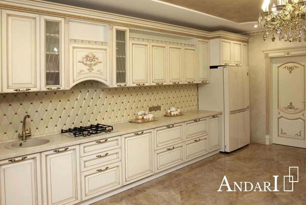 Угловая кухня с патиной