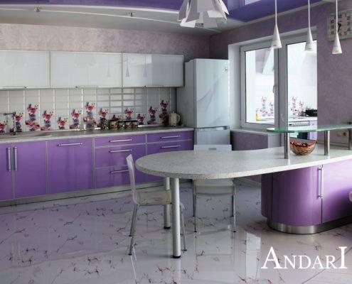 Прямая кухня с островом