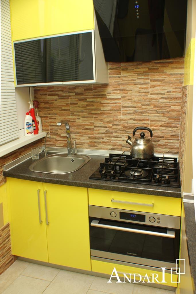 Зона готовки на мини-кухне